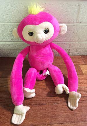 Large fingerling monkey talking stuffed animal Stuffie plush hot pink Easter basket Hugs for Sale in Las Vegas, NV