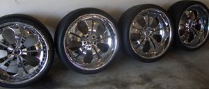 Bmw fitment 22 inch dons brasco triple chrome plated rims for Sale in Las Vegas, NV