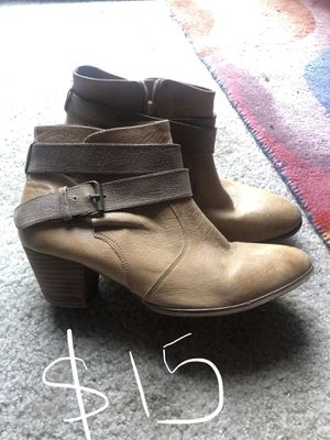 Leather boots size 10 for Sale in Columbus, OH