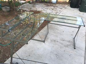 Glass desk for Sale in Riverside, CA