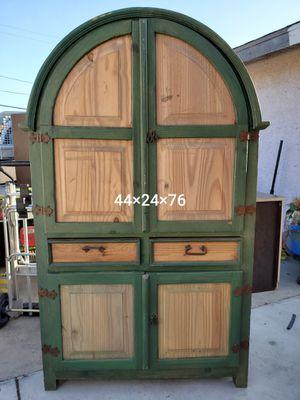 Farmhouse style dresser armoire cabinet for Sale in Garden Grove, CA