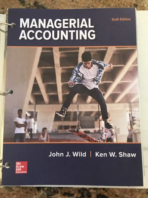 Managerial Accounting textbook for Sale in Hawthorne, CA
