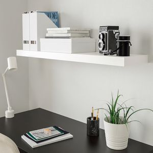 (8) BLACK Ikea floating shelves 'LACK' - $50 for (8) for Sale in Huntington Beach, CA