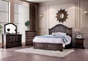 Brand New 4 Piece Walnut Bedroom Set with Storage Drawers for Sale in Tracy, CA