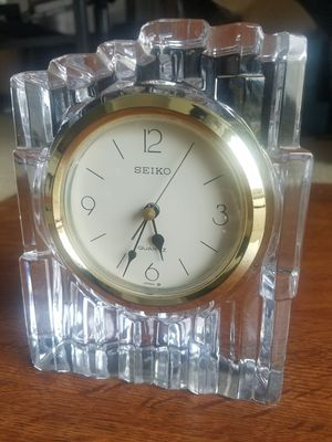 Vintage Seiko Crystal Clock for Sale in Fairfax, VA