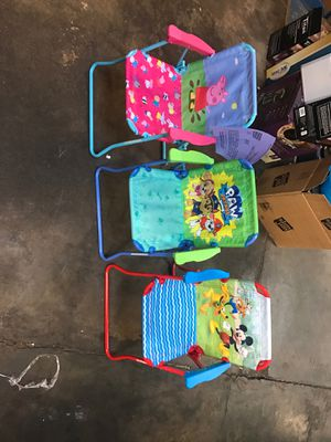 Brand new patio chairs for kids. Peppa Pig Paw Patrol or Mickey for Sale in Mesa, AZ