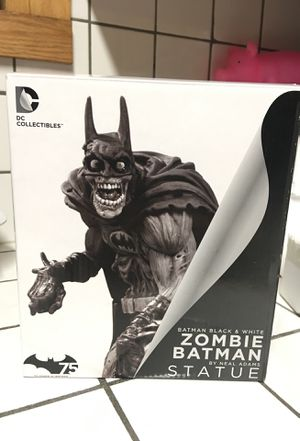 DC Batman black and white zombie statue RARE for Sale in Winston-Salem, NC