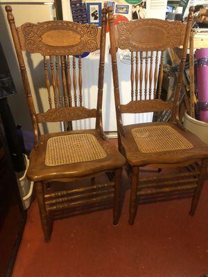 Oak Pressback Chairs, Antique for Sale in Philadelphia, PA