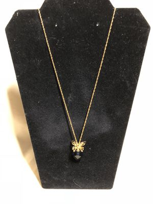 Avon butterfly with blue stone gold tone necklace for Sale in Gainesville, GA