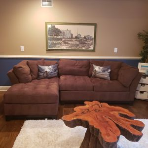 Microfiber Couch, Brown for Sale in Manasquan, NJ