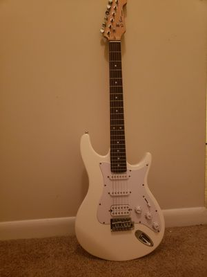 A behringer guitar with a behringer speaker and 12 extra strings with 2 guitar pics all for $150 for Sale in Woodbridge, VA