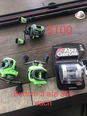 Fishing Reels ~ Lews ~ Abu Garcia ~ New !! for Sale in Houston, TX