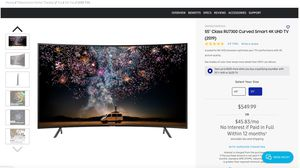 """55"""" Class RU7300 Curved Smart 4K UHD TV (2019) for Sale in San Jose, CA"""