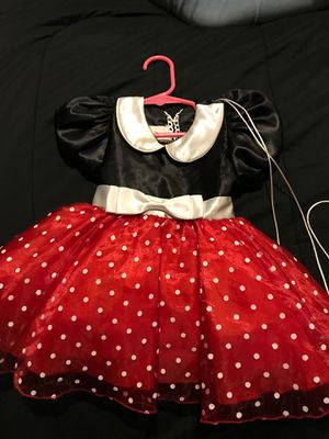 Minnie Mouse baby dress with ears and tights for Sale in Garland, TX