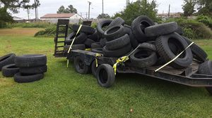 Used tires for sale whole trailer name your price be fair and I'll be fair for Sale in Norfolk, VA