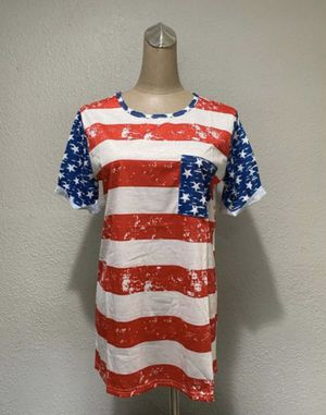 Women's American Flag Patriotic Stars T-Shirt Small Medium and Large for Sale in Baldwin Park, CA