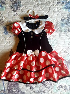 Minnie Mouse costume size 2T in great condition worn one time from a smoke pet free home for Sale in West Jordan, UT