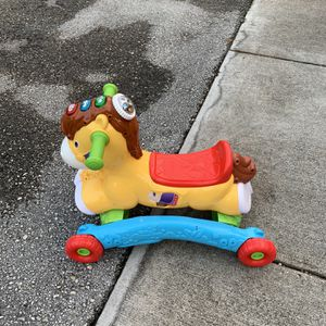 VTech, Gallop and Rock Learning Pony, Interactive Ride-On Toy for Sale in Hollywood, FL