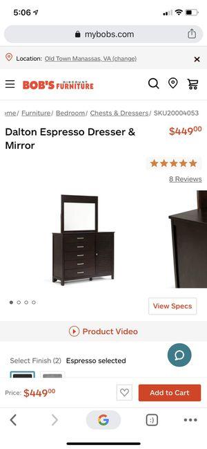 BRAND NEW! DALTON ESPRESSO & MIRROR! for Sale in Manassas, VA
