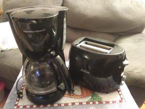 Black coffee maker & toaster for Sale in Norfolk, VA
