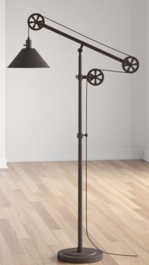 BRAND NEW !! Hudson&Canal Descartes Pulley Floor Lamp in Blackened Bronze. Retail Price at the store $179.99 plus tax ! for Sale in Anaheim, CA