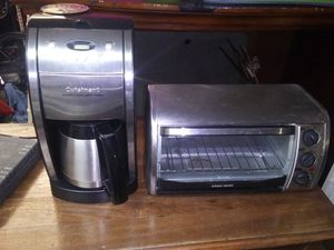Stainless coffee maker and toaster oven for Sale in Bartow, FL