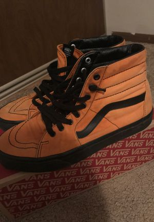 *Custom* Orange Vans Skate High's for Sale in Cuyahoga Falls, OH