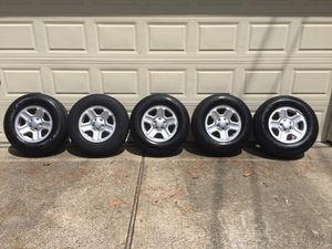 Wheels and tires / Goodyear Wrangler ST / 225-75r-16 / 5 brand new , asking $1,100... for Sale in Spring, TX