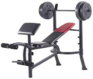 New weider weight bench with 80lbs for Sale in Norco, CA