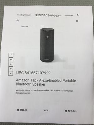 Amazon Tap-Alexa-enabled portable Bluetooth Speaker. for Sale in Fort Lauderdale, FL