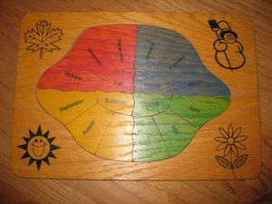 Easy Pieces Seasons of the Year Wooden Puzzle for Sale in Traverse City, MI