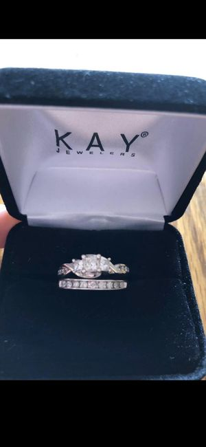 3 stone diamond ring & diamond wedding band for Sale in Utica, OH