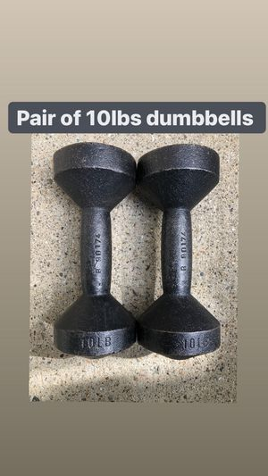 10 lbs dumbbells (pair of two dumbells) for Sale in Ramsey, NJ