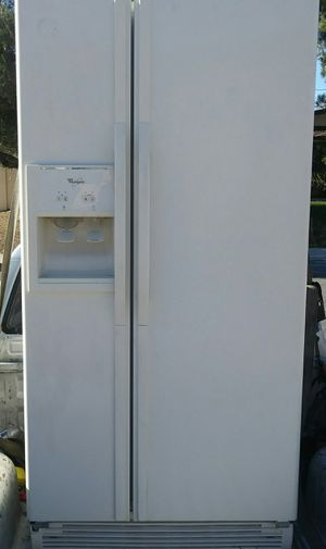 Whirlpool Refrigerator fridge side by side works great Can deliver for Sale in Las Vegas, NV