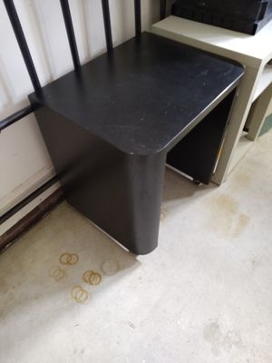 Black Formica rolling table for Sale in Fuquay-Varina, NC