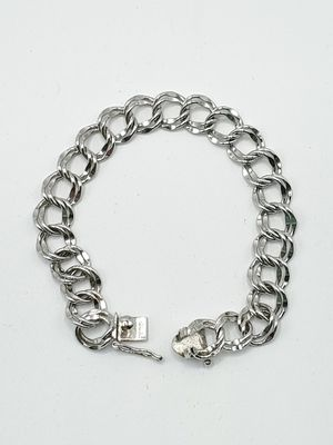 Sterling Silver Double Link (Charm) Bracelet for Sale in DeKalb, IL