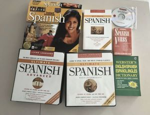 Learn Spanish cds and books entire collection language learning school for Sale in Oakland Park, FL