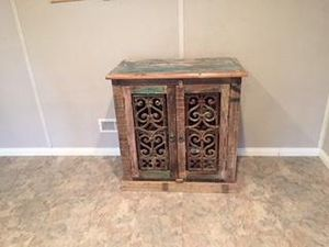 IO METRO DISTRESSED VINTAGE CABINET for Sale in Maryland Heights, MO
