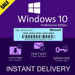 Windows 10 Pro Key for Sale in Escondido, CA