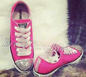 Swarovski Converse HOT PINK!!! Women's size 8.5 for Sale in Beaumont, CA
