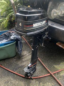4 Hp Mercury Outboard for Sale in Auburn,  WA