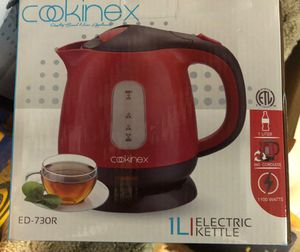 Cookinex 1 L Electric Kettle 360 cordless 1100 W New in box 📦 never used. for Sale in La Mesa, CA