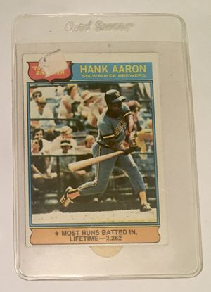 1976 Topps 1 Hank AAron trading card for Sale in Maryland City, MD