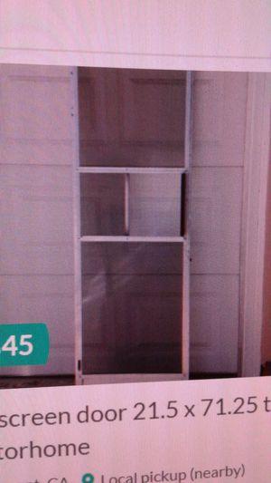 On sale - RV screen door 21.5 x 71.25 trailer motorhome for Sale in Claremont, CA