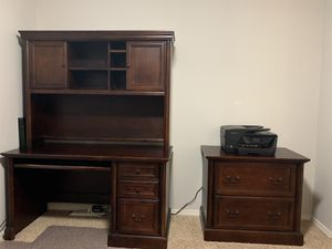 Executive Desk, Hutch & Filing Cabinet for Sale in Camas, WA