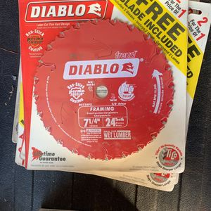 Diablo 7 And 1/4 With 24 Teeth for Sale in Murrieta, CA