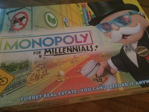 Monopoly for Millennials Board Game for Sale in Manchester, CT
