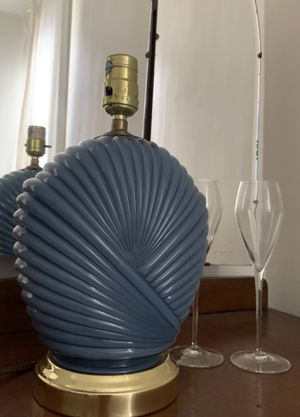 Vintage Art Deco Blue & Gold Shell Lamp for Sale in Los Angeles, CA