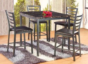 5PC Marble Top counterheight dining set for Sale in Brentwood, MD