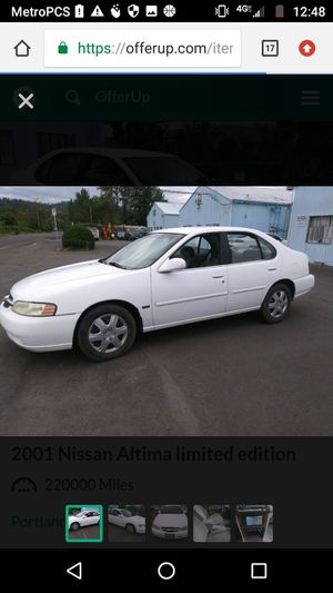 2001 Nissan Altima Limited Edition for Sale in Portland, OR